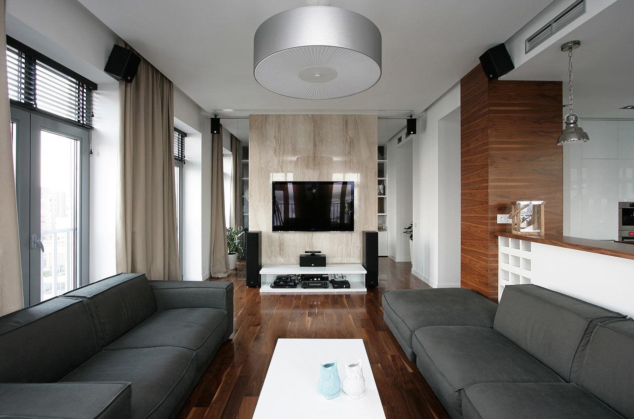 Decoraci n de un piso moderno en el centro hist rico lf24 for Design interno moderno