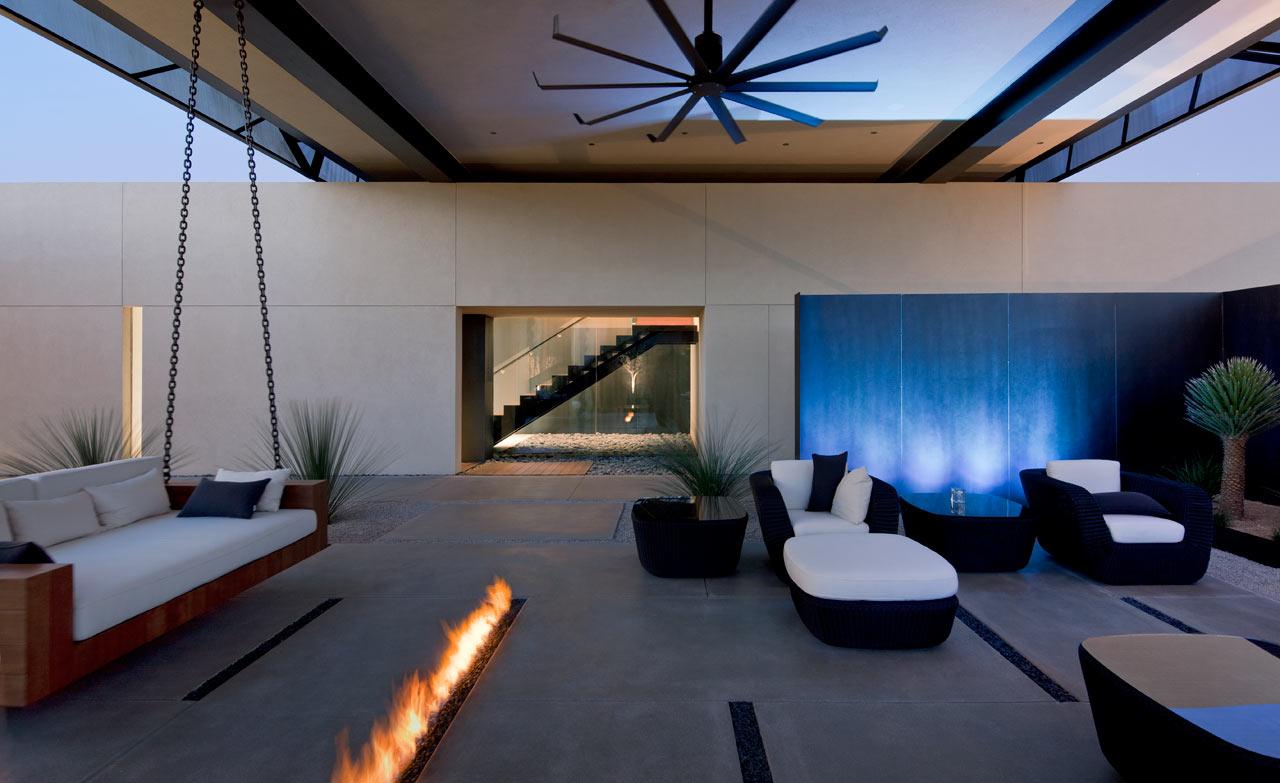Diseño De Casa Moderna En El Desierto De Las Vegas Lf24