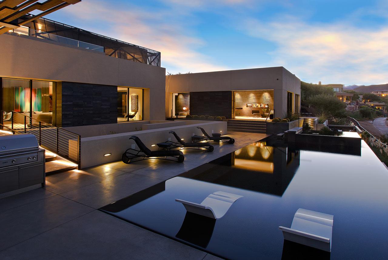 Dise o de casa moderna en el desierto de las vegas lf24 Interiores de casas modernas 2016