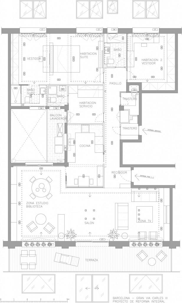 Rehabilitaci n de un piso de estilo moderno en pedralbes - Piso en pedralbes ...