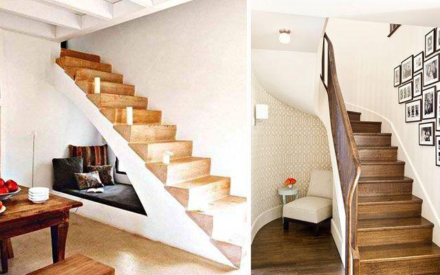 Dise o interior aprovechar el espacio bajo las escaleras for Estanteria bajo escalera