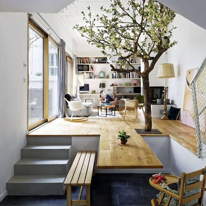 Casa Tierra Apartments: Interiorismo: Aprovechando Niveles De Forma Inteligente