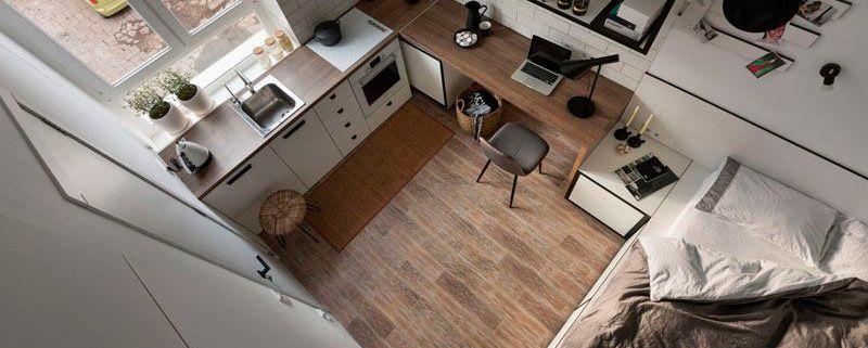 Como vivir en un piso de menos de 20 m²
